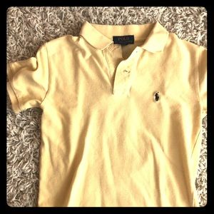 Pale yellow Polo by RL boy's size small polo